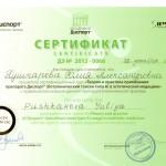 Сертификат по Диспорту